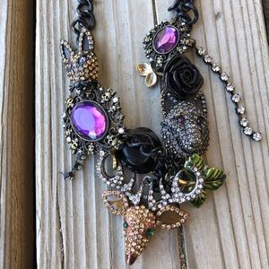 New Betsey Johnson Dark Forest Collectors Necklace